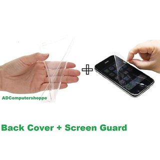 Ultra thin Transparent Back Cover + Screen Protector / Guard For Redmi 2 Prime