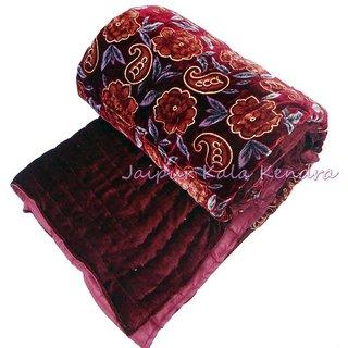 Marwal Famous Jaipuri Valvet Single Bed Quilt Razai Rajasthani Razai Blanket Quilt