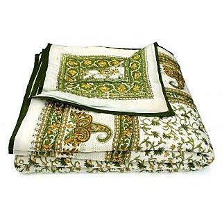 Marwal Jaipuri Single Bed Pure Cotton Quilt Rajai RAZAI