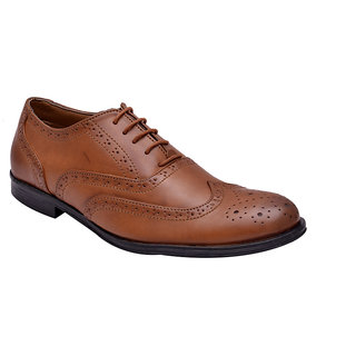 Hirels Tan Stylish Brogues
