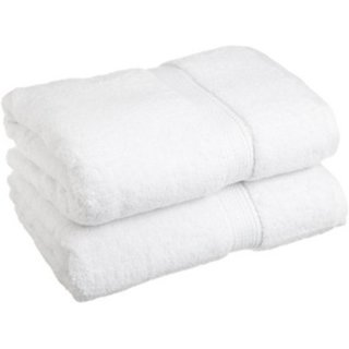 Marwal Plain White Cotton Bath Towels Set Of 2 Towels