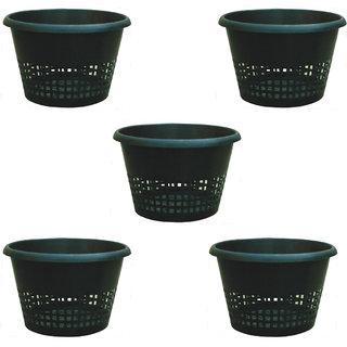 Atlantic Black Orchid Pots 22 cms. x 14 cms. (Pack of 5)