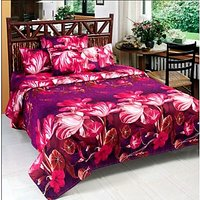 Wonder Collection Extra Soft 3D 1 Bedsheet With 2 Pillow Covers Complementary