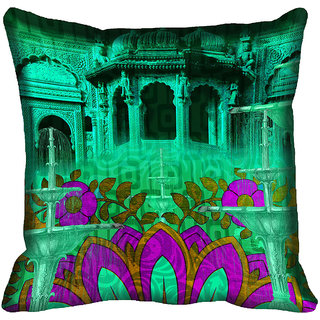 meSleep Nature Digital Printed Cushion Cover 16x16