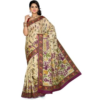 Somya Magnetic Womens Bhagalpuri Silk Printed Saree