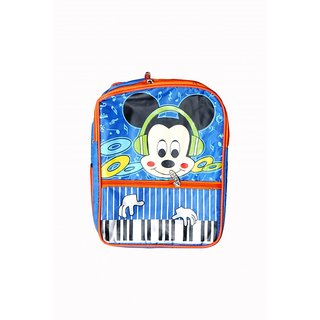Akash Ganga Blue Micky Mouse School Bag for Kids (SB23)