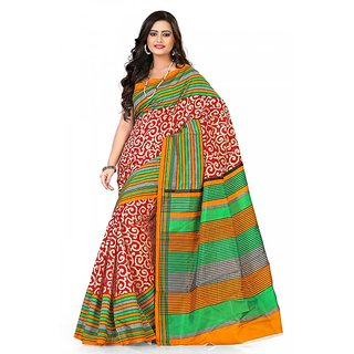 Florence Multi Color Bhagalpuri Silk Saree (FL-10646)