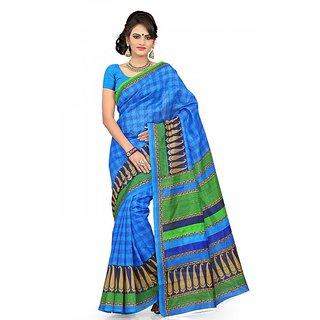 Florence Multi Color Bhagalpuri Silk Saree (FL-10651)