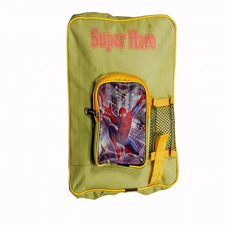Akash Ganga Yellow Spider Man School Bag for Kids (SB26)