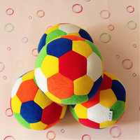 Combo Of 4 Colorful Footballs (Soft & Small)