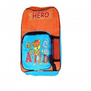 Akash Ganga Blue & Orange School Bag for Kids (SB47)