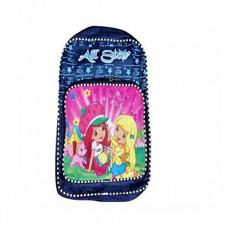 Akash Ganga Blue Stars Beautiful School Bag for Kids (SB50)