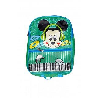 Akash Ganga Green Micky Mouse School Bag for Kids (SB53)