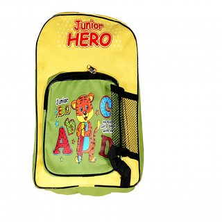 Akash Ganga Yellow Cat School Bag for Kids (SB59)