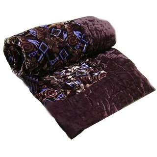 Marwal Jaipuri Velvet Razai ( Quilt) Cotton Stuffed - Single Bed Size