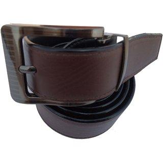 Men's Formal Brown Synthetic Belt - PB PRC 003