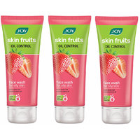JOY Skin Fruits Oil Control (Strawberry) Face Wash 150 ml (Pack of 3 x 50 ml)