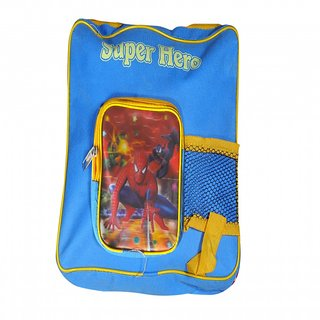 Akash Ganga Blue Spider Man School Bag for Kids (SB65)