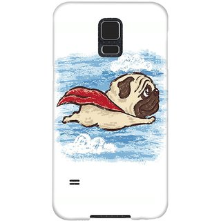 The Fappy Store Flying-Pug Hard Plastic Back Case Cover For Samsung Galaxy S5