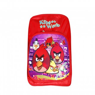 Akash Ganga Red Bright School Bag for Kids (SB74)