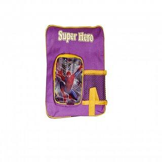 Akash Ganga Purple Spider Man School Bag for Kids (SB77)