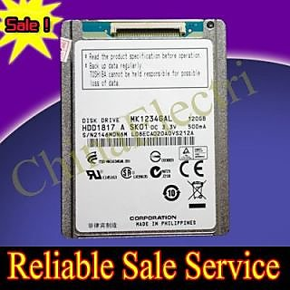 New Mk1231Gal 120GB HDD replacement for HS12YHA HS082HB for Mabook Air 1st Gen