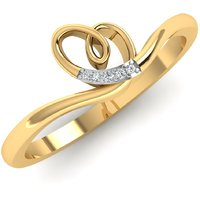 Caratify zaasis 14kt yellow gold and diamond ring