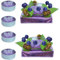 Kriti Creations  Unsented  Designer Glass  With  Tea Light Candle - 82694088