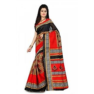Florence Multi Color Bhagalpuri Silk Saree (FL-10661)