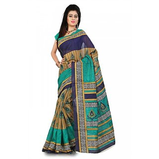 Florence Multi Color Bhagalpuri Silk Saree (FL-10662)