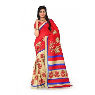 Florence Multi Color Bhagalpuri Silk Saree (FL-10673)