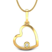 Candere Trisa Heart Diamond Pendant Yellow Gold 14K