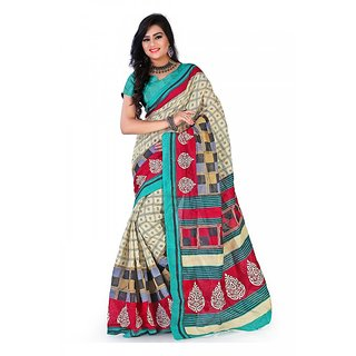 Florence Multi Color Bhagalpuri Silk Saree (FL-10676)