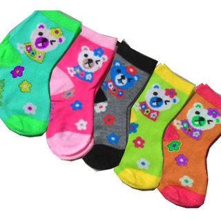 Set of 12 cartoon kids socks