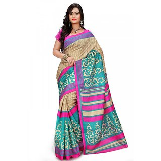 Florence Multi Color Bhagalpuri Silk Saree (FL-10681)
