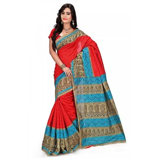Florence Multi Color Bhagalpuri Silk Saree (FL-10684)