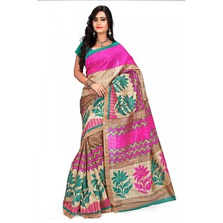 Florence Multi Color Bhagalpuri Silk Saree (FL-10685)