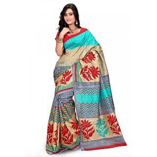 Florence Multi Color Bhagalpuri Silk Saree (FL-10686)