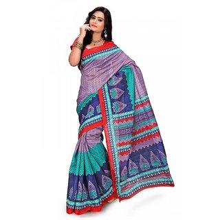 Florence Multi Color Bhagalpuri Silk Saree (FL-10690)