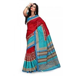 Florence Multi Color Bhagalpuri Silk Saree (FL-10692)