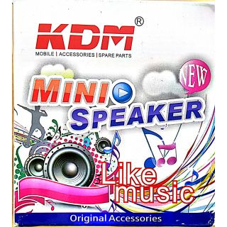 KDM MINI SPEAKER 3.5MM AUX JACK PORTABLE WIRED WITH DISCO LIGHTS