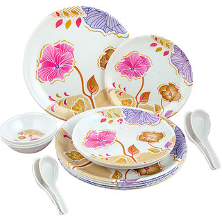 18 Pcs. Melamine Dinner Set