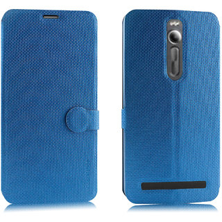 Asus Zenfone 2 Flip Cover / Case - Cool Mango iMaterial Leather Flip Cover / Case for Asus Zenfone 2 ZE551ML / ZE550ML - Cool Blue