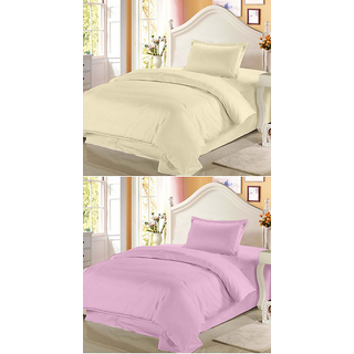 Fresh From Loom Cotton Double Bed Sheet - Buy one Get One Free (672)