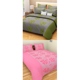 Fresh From Loom Cotton Double Bed Sheet - Buy one Get One Free (689)