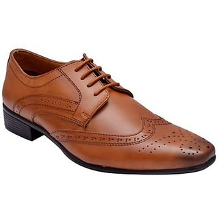 Hirels Tan Derby Brogues