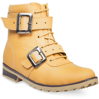 Adybird Mens Beige Buckle Boot