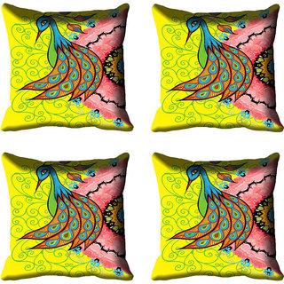 meSleep Beautiful Peacock Digital Printed Cushion Cover 16x16