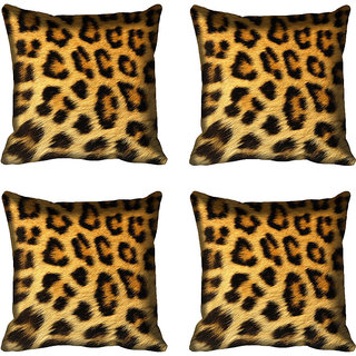 meSleep Tiger Print Digital Printed Cushion Cover 16x16