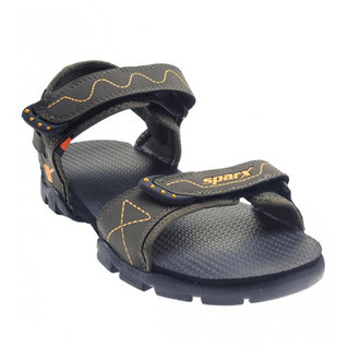 Sparx SS-110 Olive Yellow Mens Sandals